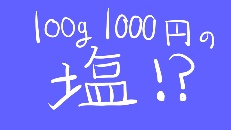 100g 1000円 塩 田野屋塩二郎