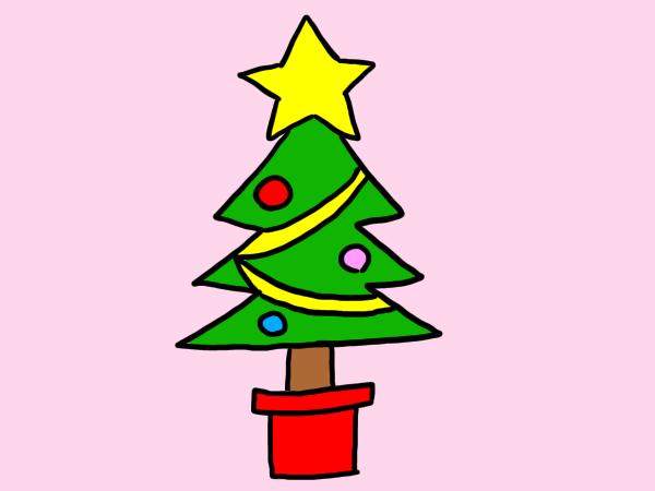 クリスマスツリー イラスト 書き方 簡単