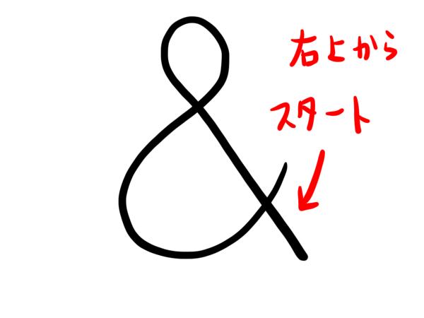& 書き方 簡単