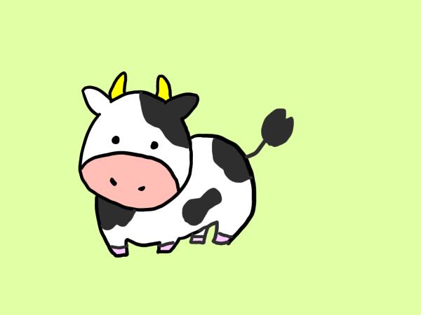 牛のイラストの書き方は 簡単にかわいい牛を書く方法をお伝えします せんろぐ情報